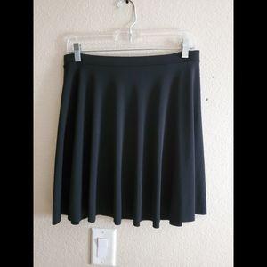 Kimchi Blue Black Pleated Swing Wrap Midi Skirt